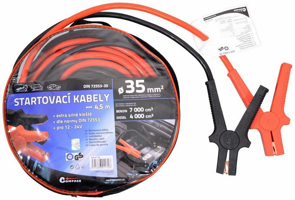 Startovací kabely 35 délka 4,5m TÜV/GS DIN72553, COMPASS