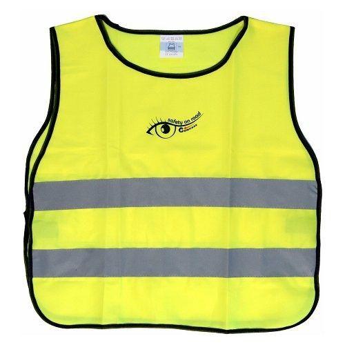 Vesta výstražná žlutá dětská S.O.R., COMPASS