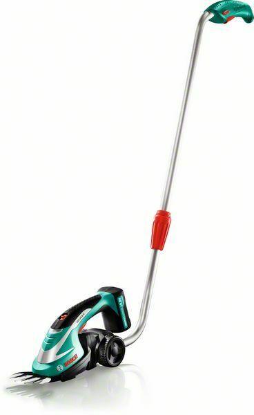 Akumulátorové nůžky na trávu Bosch AGS 10,8 LI + teleskop. násada, 0600856101