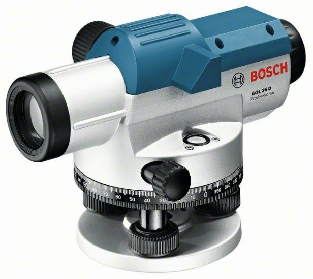 Optický nivelační přístroj Bosch GOL 26 D + měřicí lať, stativ, Professional, 061599400E