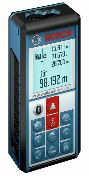 Laserový měřič vzdáleností Bosch GLM 100 C Professional, 0601072700
