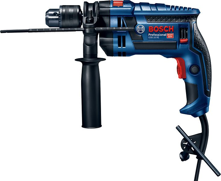 Vrtačka příklepová Bosch GSB 16 RE Professional, kufr, 060114E600