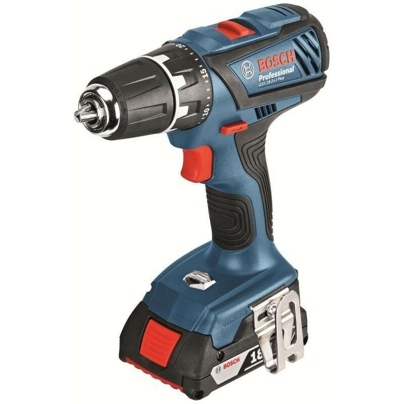 Aku vrtací šroubovák Bosch GSR 18-2-LI Plus Professional, 2x AKU 2,0Ah, 06019E6120