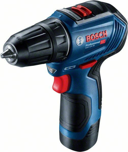 Aku vrtací šroubovák Bosch GSR 12V-30 Professional, 1x2.0Ah, kufr, 06019G9000