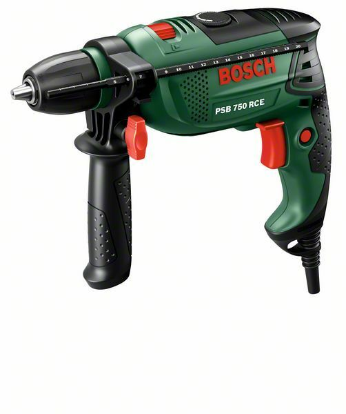 Příklepová vrtačka Bosch PSB 750 RCE + kufr, 0603128520