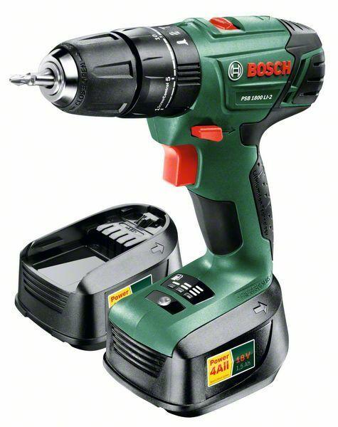 Aku kombinovaný šroubovák Bosch PSB 1800 LI-2 (2x baterie, nabíječka), 06039A3321