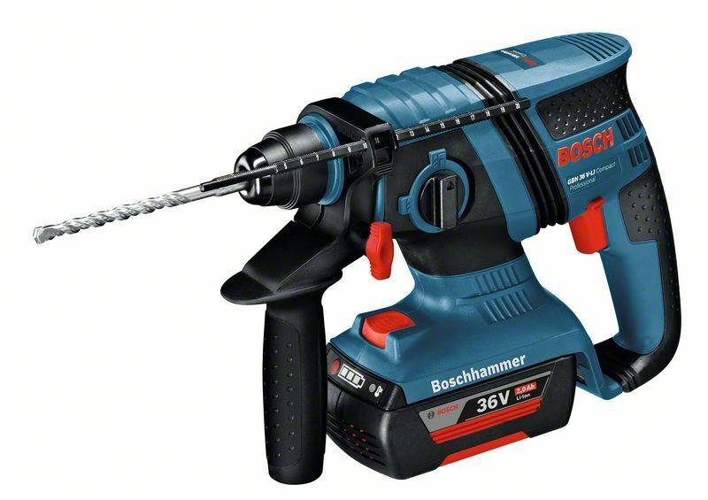 Aku vrtací kladivo Bosch GBH 36 V-EC Compact (2,0 Ah) Professional, 0611903R0H