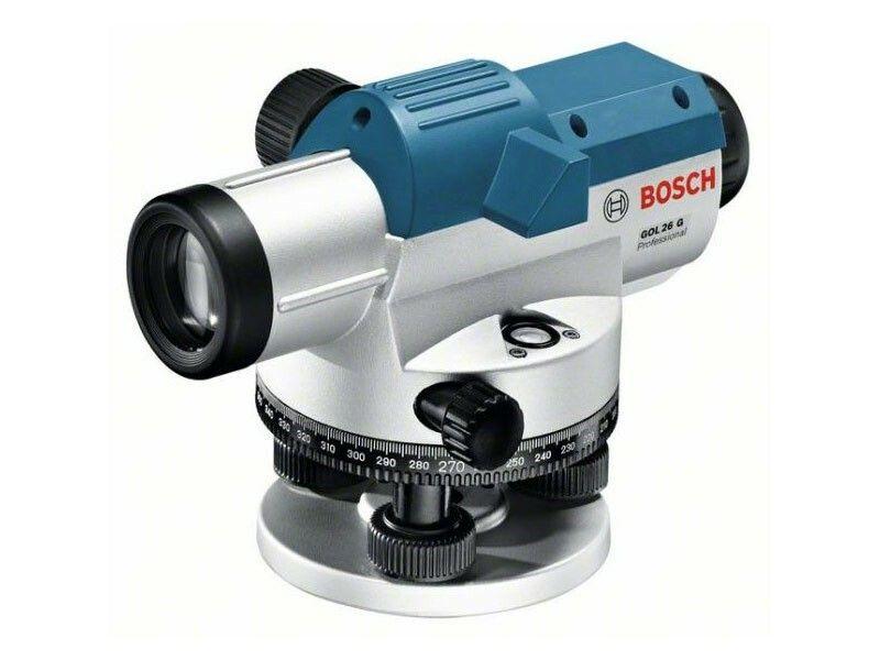 Optický nivelační přístroj Bosch GOL 26 G + měřicí lať, stativ, Professional, 061599400C
