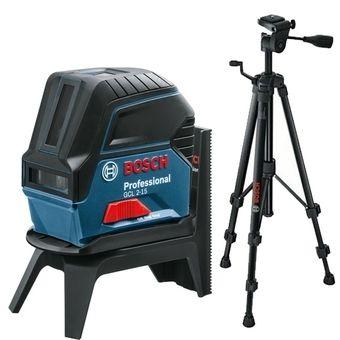 Čárový laser Bosch GCL 2-15 + RM 1 Professional + stavební stativ BT 150 Prof., 06159940FV