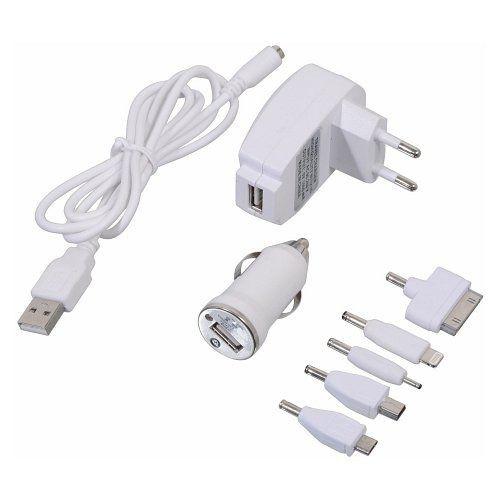 Nabíječka telefonu 220/12V (iPhone 4/5/6, micro USB, Nokia), COMPASS