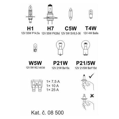 Žárovky servisní box univerzální H7+H1, COMPASS