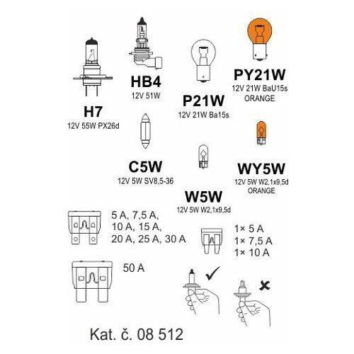 Žárovky box ŠKODA ROOMSTER H7 + OCT2/FAB2, COMPASS