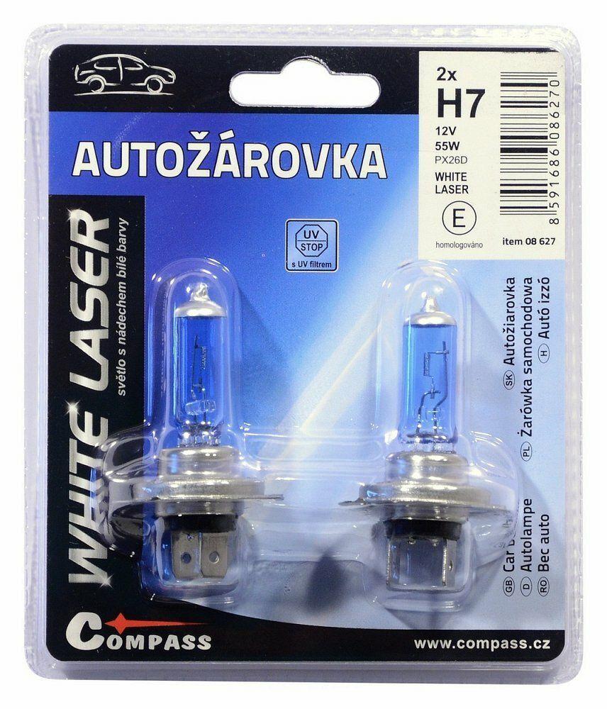 Žárovka 12V H7 55W PX26d WHITE LASER blister 2ks