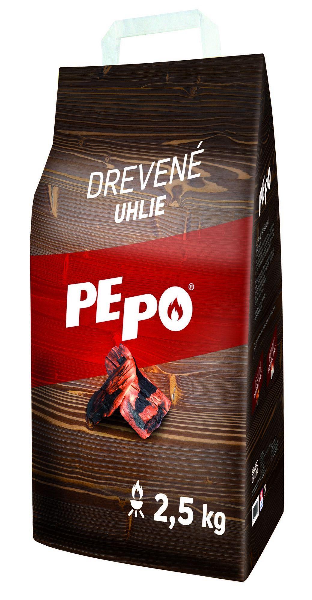 PE-PO grilovací dřevěné uhlí 2,5 kg