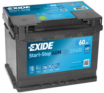 Baterie Exide 12V 60Ah EK600, EXIDE