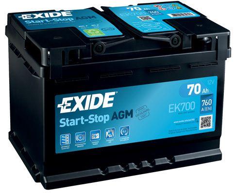 Baterie Exide 12V 70Ah EK700, EXIDE
