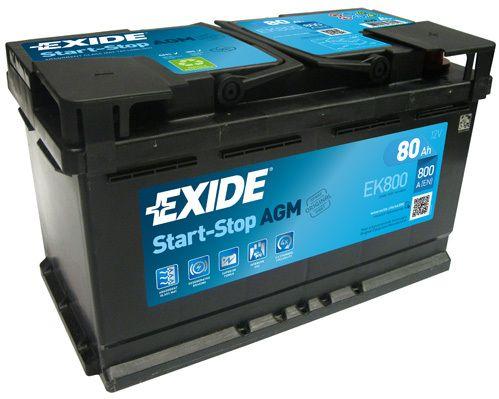 Baterie Exide 12V 80Ah EK800, EXIDE