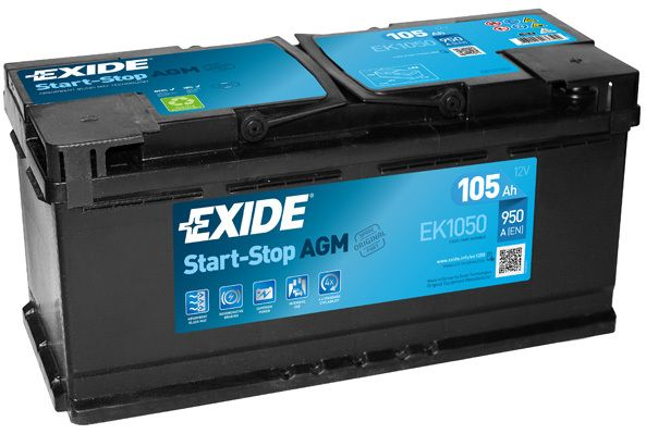 Baterie Exide 12V 105 Ah EK1050, EXIDE