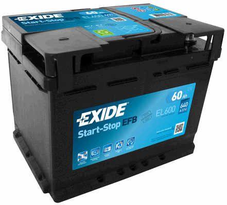 Baterie Exide 12V 60Ah EL600, EXIDE