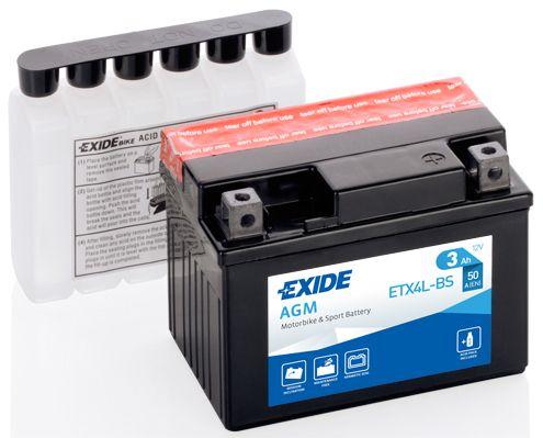 Baterie Exide 12V 3Ah ETX4L-BS, EXIDE