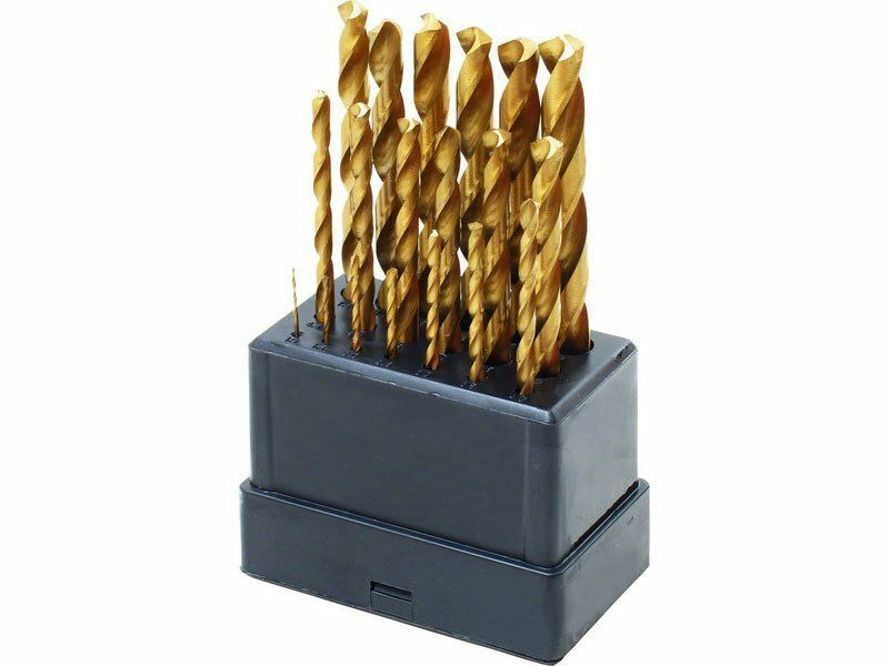 Vrtáky do kovu, sada 19ks, Ř1-10mm, po 0,5mm, leštěné