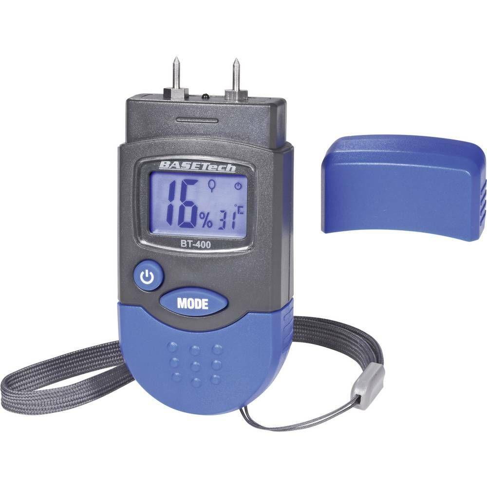 Měřič vlhkosti dřeva a stavebních materiálů Basetech BT-400