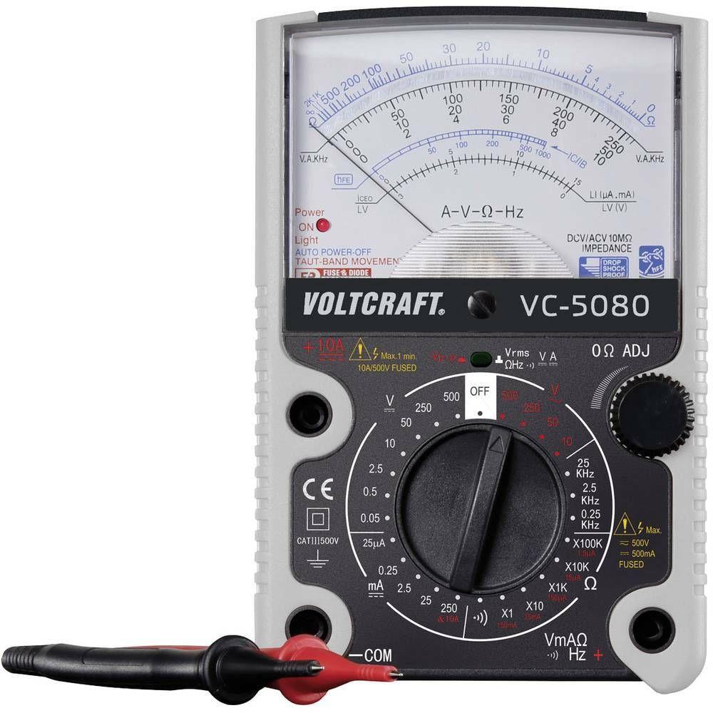 Analogový multimetr Voltcraft VC-5080, 500 V, 3 roky záruka