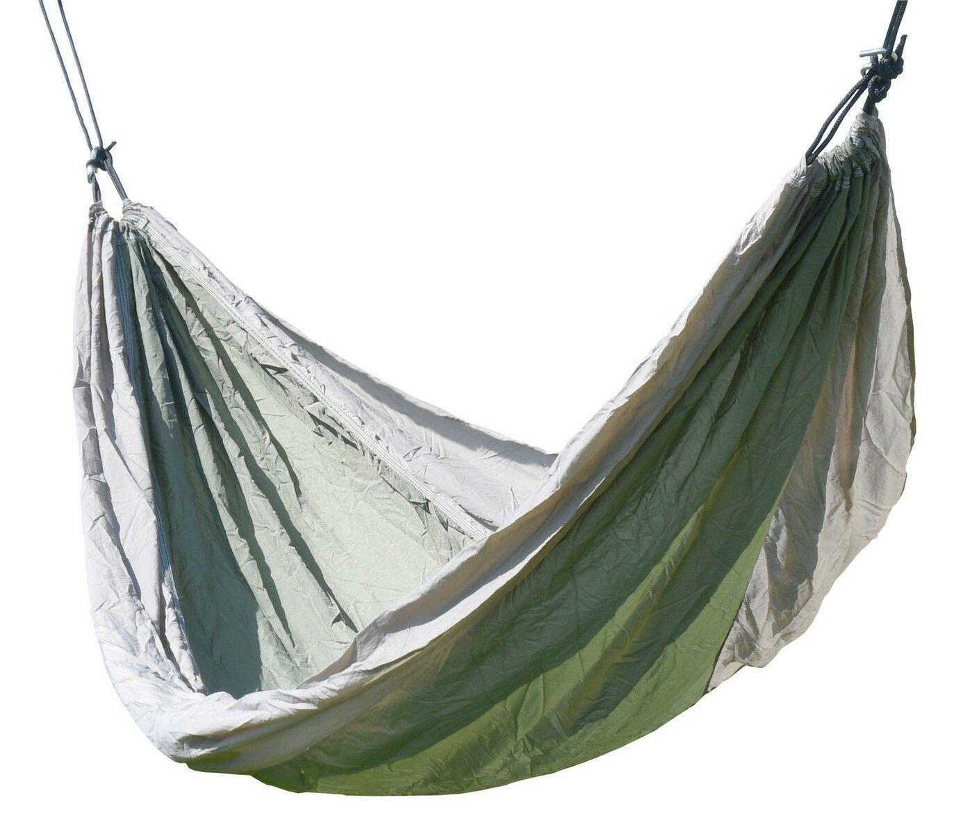 Houpací síť NYLON 275x137cm zeleno-hnědá, CATTARA