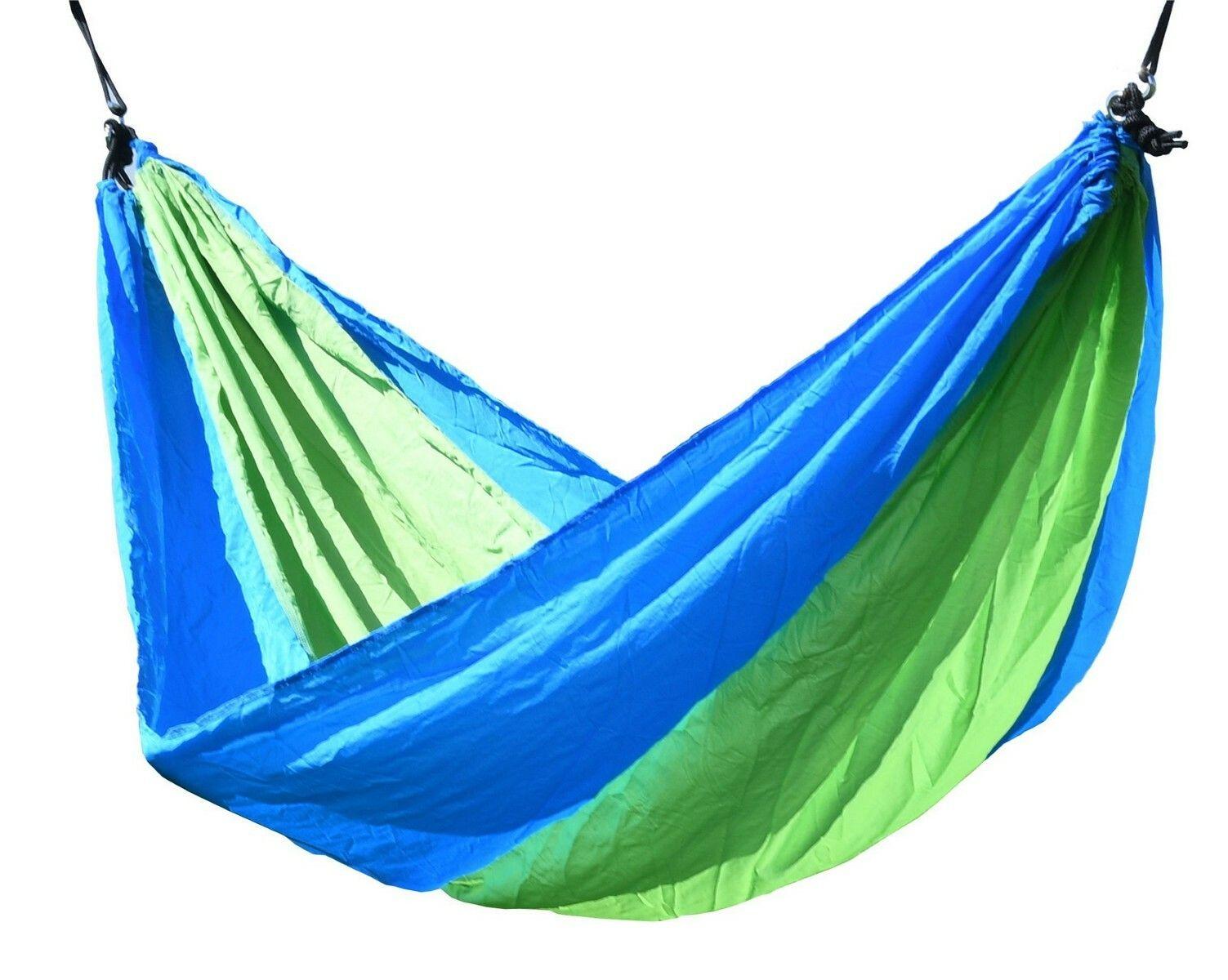 Houpací síť NYLON 275x137cm zeleno-modrá, CATTARA