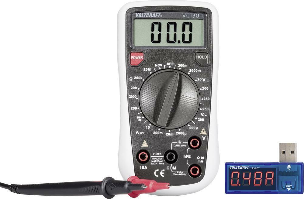 Digitální multimetr VC130 + USB Power meter PM-37, 3 roky záruka