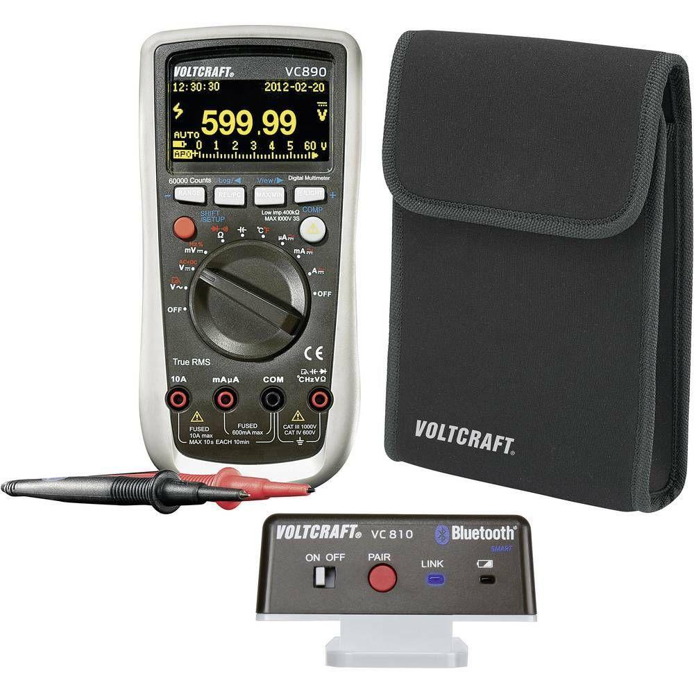 Multimetr digitální VOLTCRAFT VC890 OLED VC890 OLED + VC810 Bluetooth + pouzdro