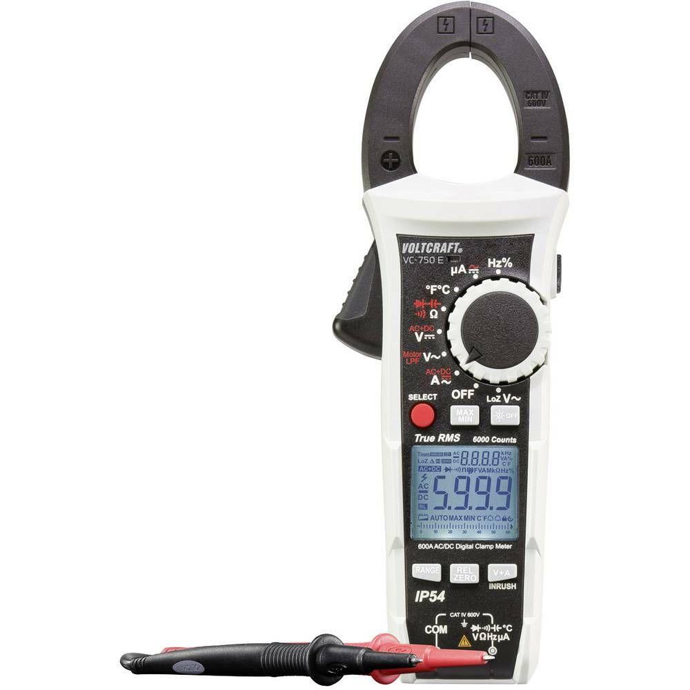 Digitální proudové kleště, multimetr VOLTCRAFT VC-750 E, ochrana proti stříkají