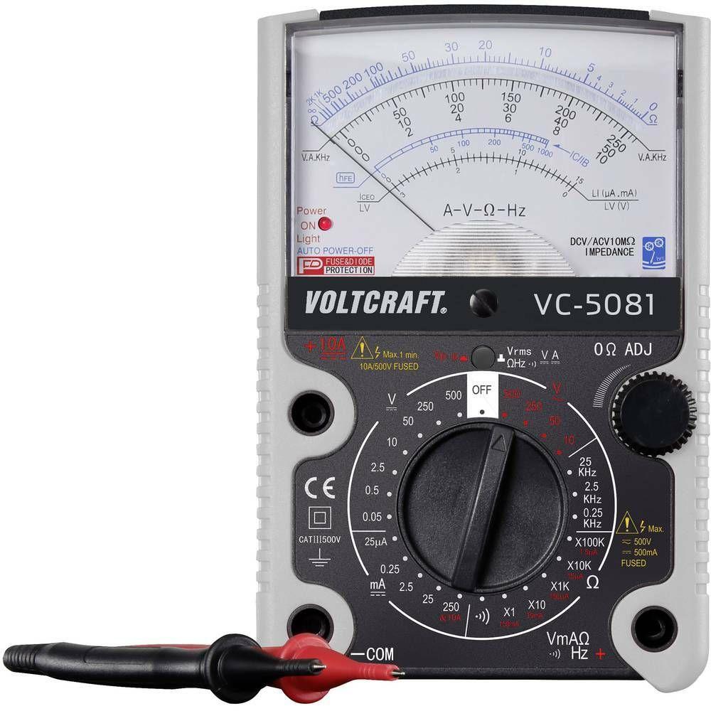 Analogový multimetr VOLTCRAFT VC-5081, 3 roky záruka