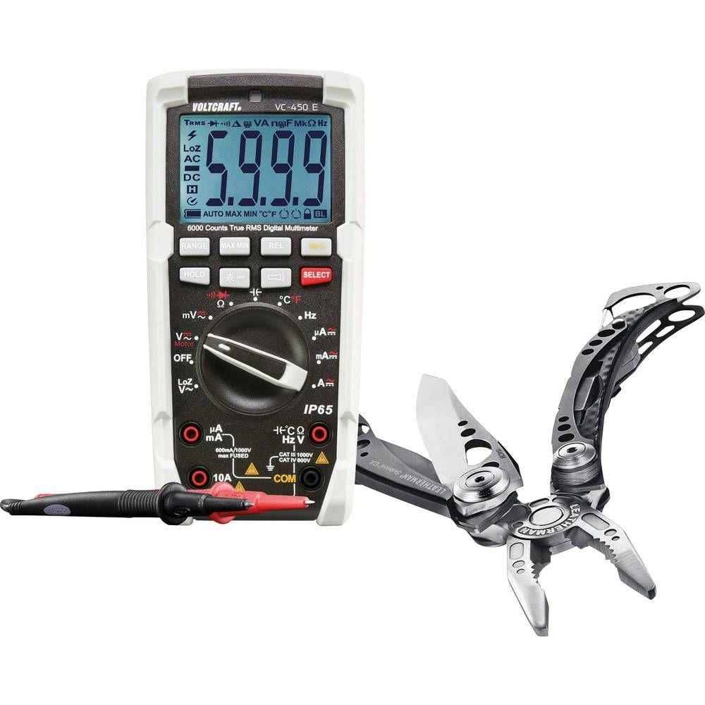Sada digitálního multimetru VOLTCRAFT VC-450 E a multifunkčních kleští Leatherman CXLT90 S