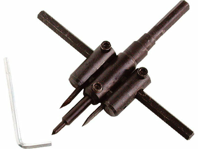 Vrták nastavitelný vykružovací do dřeva s 2břity, Ř30-120mm