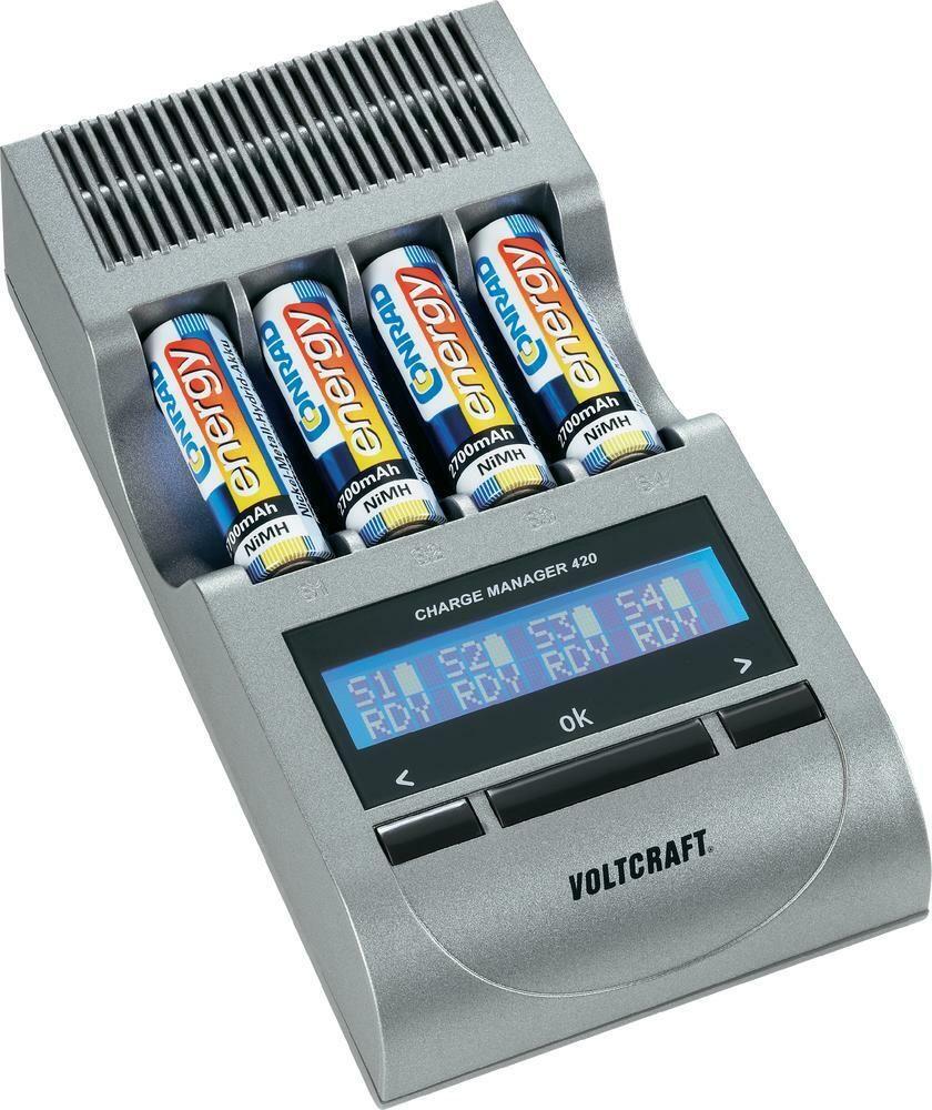 Nabíječka Charge Manager 420 + 4 akumulátory AA 2700 mAh, 3 roky záruka