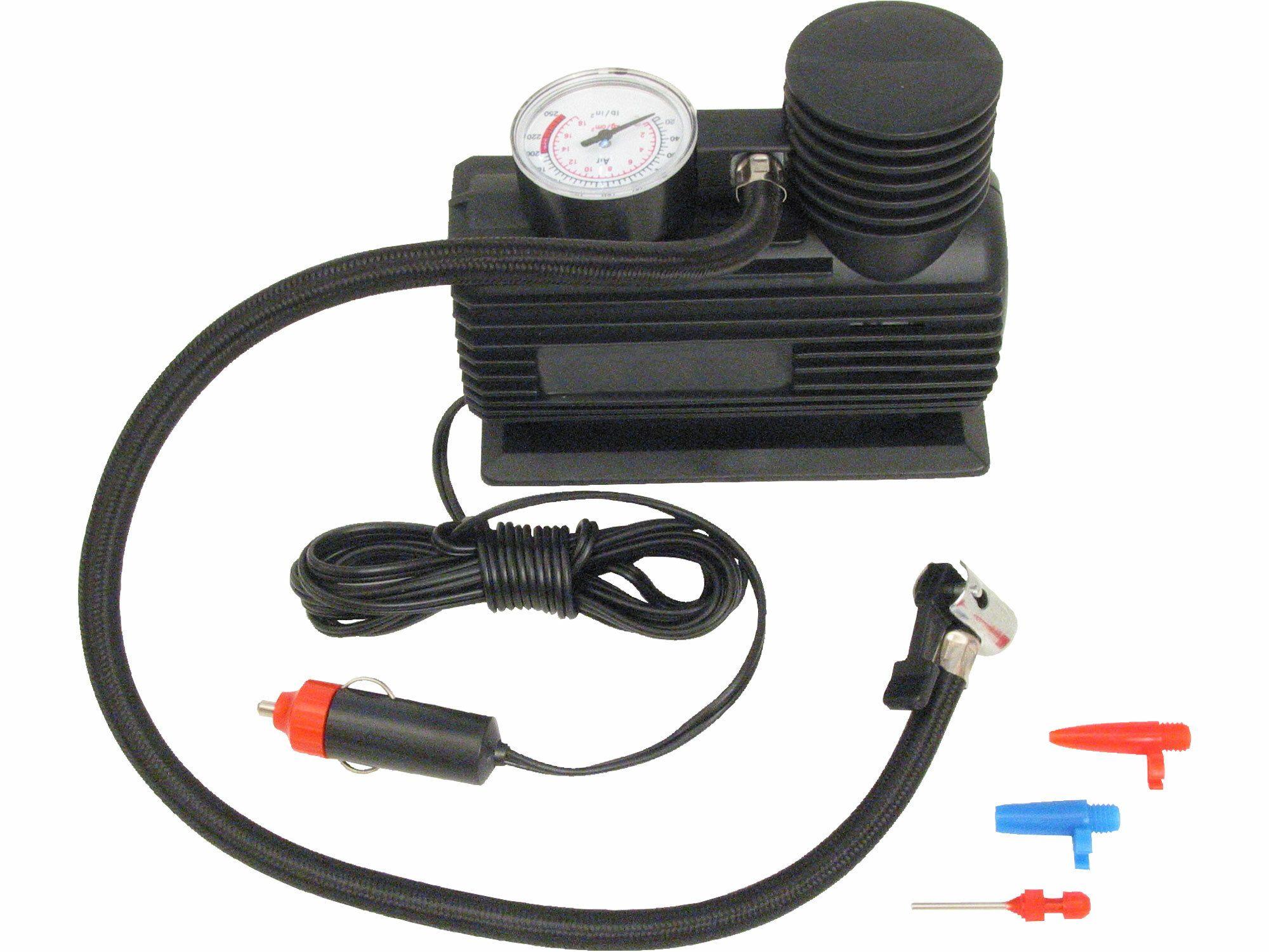 Kompresor mini 12V, 250PSI/1,7MPa, manometr, kabel 3m, 252
