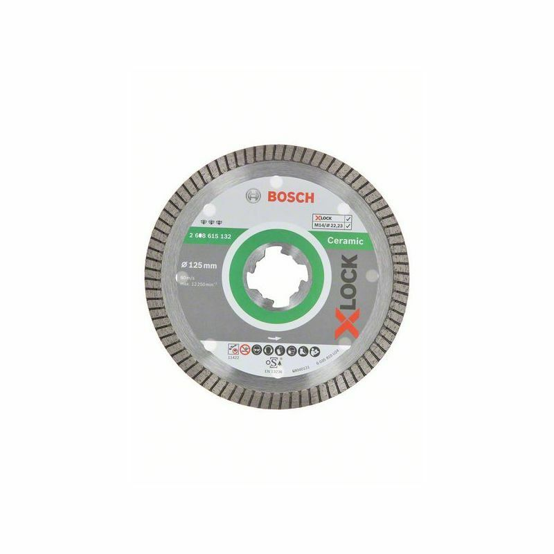 Diamantový řezný kotouč Bosch Best for Ceramic, 125×22,23×1,4×7 mm - 2608615132
