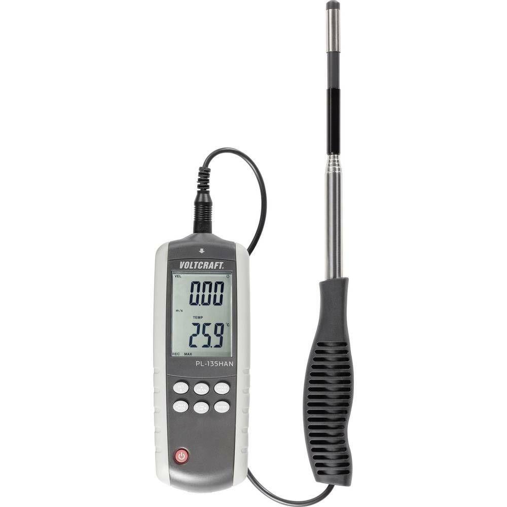 Tyčový anemometr s teploměrem PL-135HAN, 0,1 - 25,0 m/s, USB