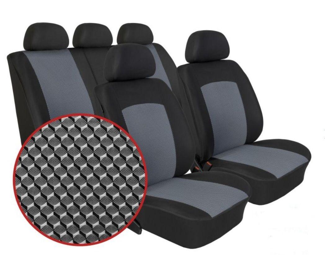 Autopotahy Škoda Fabia I, dělená, 5 opěrek hlavy, Dynamic melír