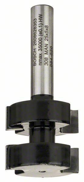 Fréza na pero - 8 mm, D1 25 mm, L 5 mm, G 58 mm - 3165140358149