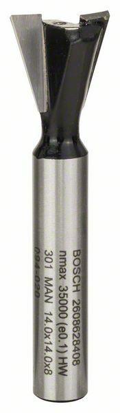 Rybinová fréza - 8 mm, D1 14,3 mm, L 12,7 mm, G 48 mm, 15° - 3165140358699