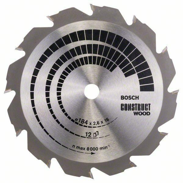 Pilový kotouč Construct Wood - 184 x 16 x 2,6 mm, 12 - 3165140373821