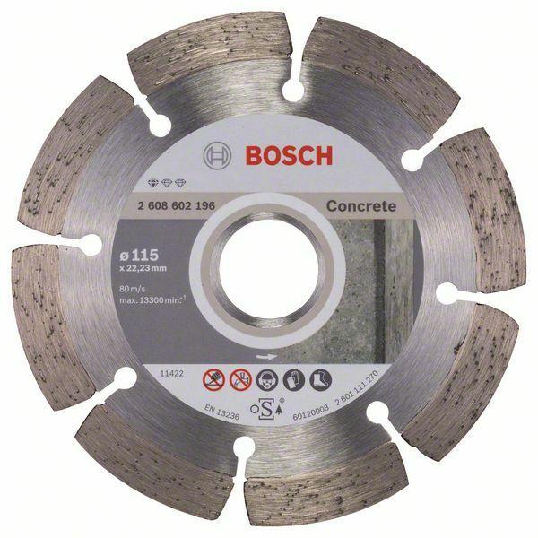Diamantový dělicí kotouč Standard for Concrete - 115 x 22,23 x 1,6 x 10 mm - 3165140441247