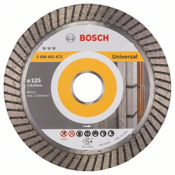 Diamantový dělicí kotouč Best for Universal Turbo - 125 x 22,23 x 2,2 x 12 mm - 3165140581