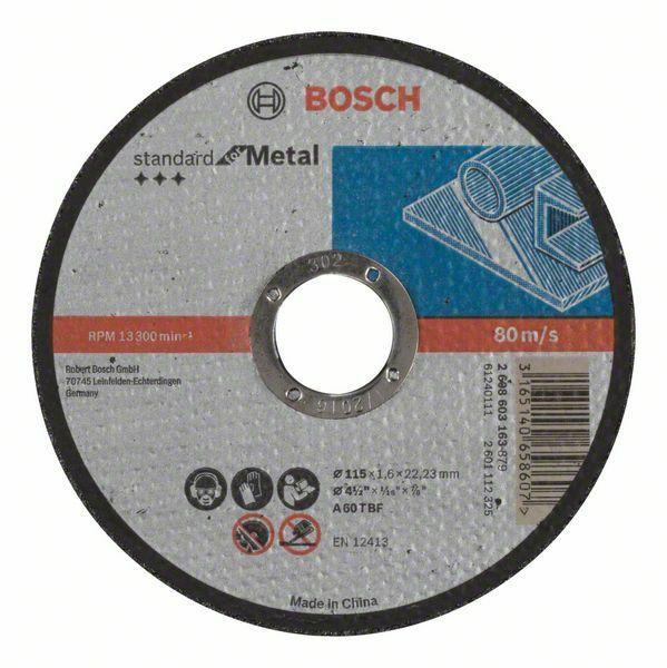 Dělicí kotouč rovný Standard for Metal - A 60 T BF, 115 mm, 22,23 mm, 1,6 mm - 31651406586