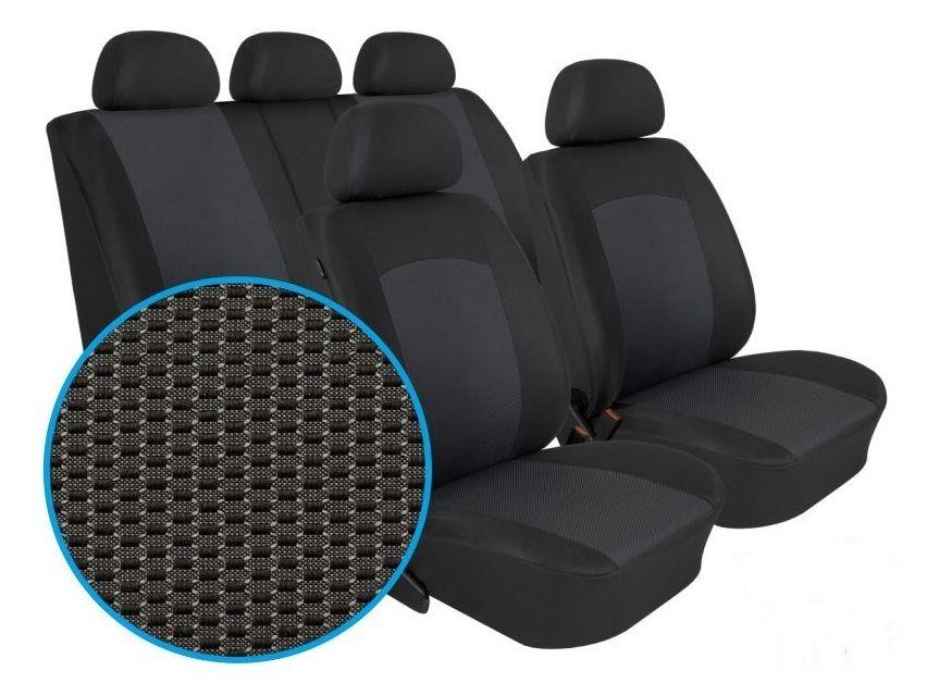 Autopotahy Škoda Citigo, VW UP, Seat Mii, dělené, od r. 2011, DYNAMIC grafit