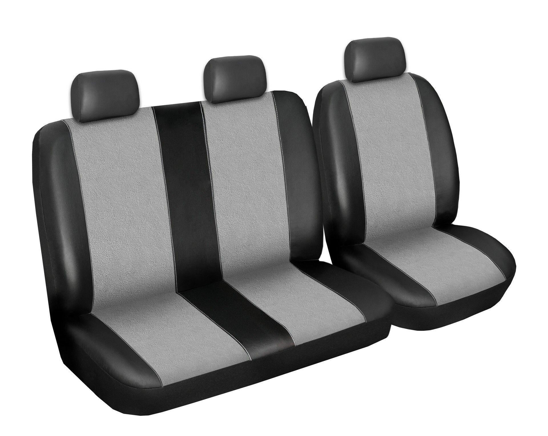 Autopotahy Volkswagen LT, 3 místný, do r. 2006, Eco kůže + alcantara šedé
