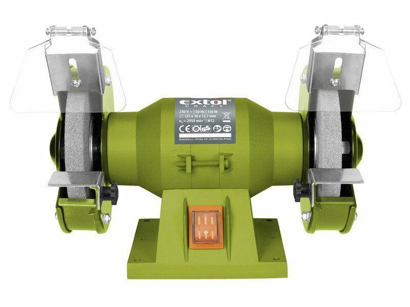 Brúska stolná dvojkotúčová, 150W, 125x12,7x š.16mm, EXTOL CRAFT, 410120