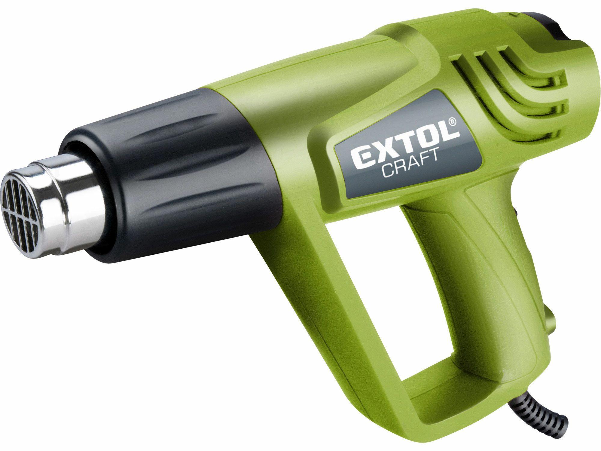 Pistole horkovzdušná s příslušenstvím, 2000/1000W, 550/350°C, EXTOL CRAFT, 411023